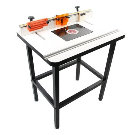 MDF Router Table, Fence with Feather Board, Bit Guard, Adjustable Stop, Dust Port and Plate - Router Table