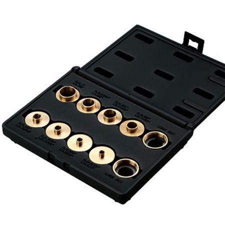 Router Brass Template Guide Bushing 10 Piece Set - Router Brass Template Guide Bushing