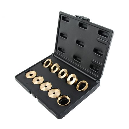 Router Brass Template Guide Bushing 10 Piece Set with case - Router Template Guide