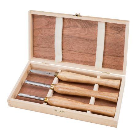 11-inch Wood Turning Tool HSS Lathe Chisel Set 3 Piece - Turning Set
