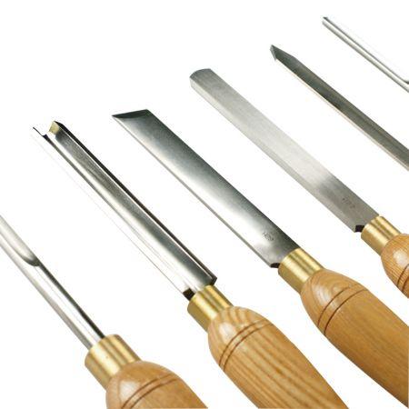 6PC HSS Blades Woodworking Turning Lathe Tool Set - Turning Tool Set