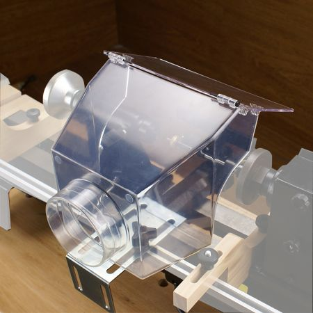 Clear Wood Lathe Dust Hood With Mounting Clamp - Dust Hood Wood Lathe Dust Hood