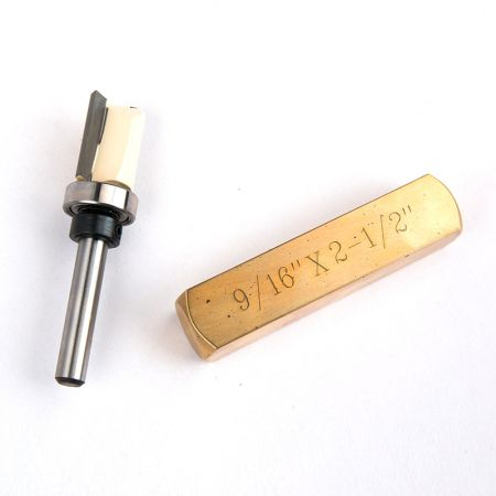 Box Joint Bit with 1/2-inch Brass Setup Bar - dovetail bit