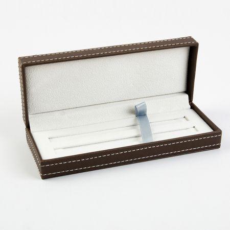 Estojo de tela de caneta de couro falso - estojo de caneta