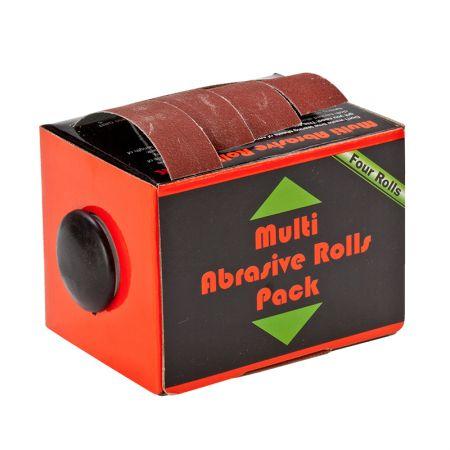 1インチx20フィートの箱入り研磨サンディングロール - ディスペンサー付きサンドペーパーバラエティパック