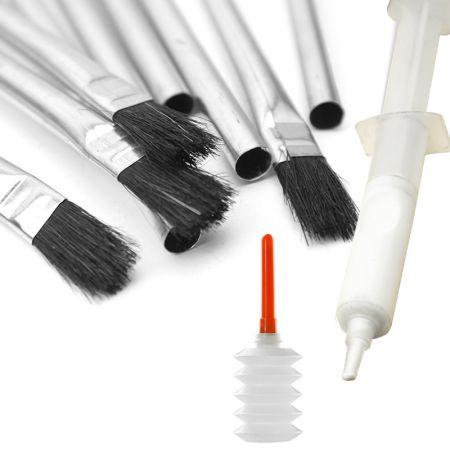 Glue Injector Syringe Kit with Acid Glue Brushes - wood glue kit