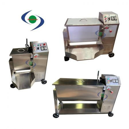Stainless Steel Industrial Mixer AC DC 110V 220V 380V 1HP 2HP - Food mixer machine is an ideal equipment in the meat-processing.