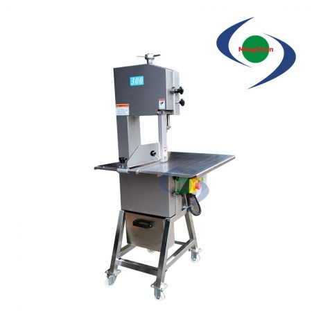 Stainless Steel Vertical Meat Band Saw Cutting Machine 220V 1.5HP 2HP 3HP - Stainless steel high speeds band saw can slice frozen meat and fish.