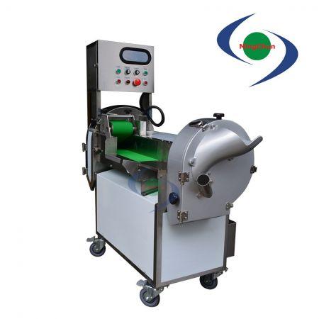 Sebze Meyve Kesme Makinası AC 220V 1HP 1/2HP 1/4HP - Yapraklı ve köklenmiş sebzeleri dilimlenmiş, rendelenmiş, doğranmış olarak işleyebilir.