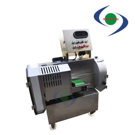 Removable Belt Conveyor Vegetable Cutting Machine AC 220V 1HP 1/2HP 1/4HP - It can process the ingredients into sliced, shredded, diced (square).