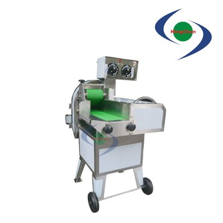 Vegetable Fruit Sliced Chopped Machine DC 110V 220V 1.5HP 1.5HP - It can cut ingredients into cubes, pieces and strips.