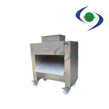 Poultry Meat Dicing Machine DC 220V 380V 2HP - Poultry dicing machine is suitable for poultry with cartilage, cut and slice.