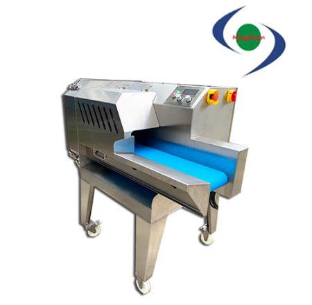 Büyük AC Boşaltılmış Çıkarılabilir Çok Fonksiyonlu Sebze Kesme Makinesi - Malzemeleri dilimlenmiş, rendelenmiş, doğranmış (kare) olarak işleyebilir.
