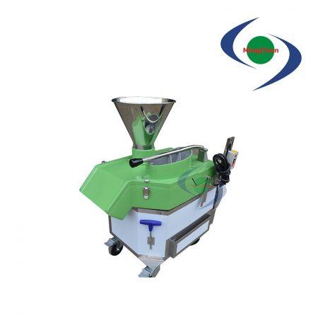 Sebze Meyve Yatay Dilimleme Kesme Makinası DC 220V 380V 1HP - Yatay dilimleme/kesme makinesi malzemeleri kesebilir ve küp küp doğrayabilir.