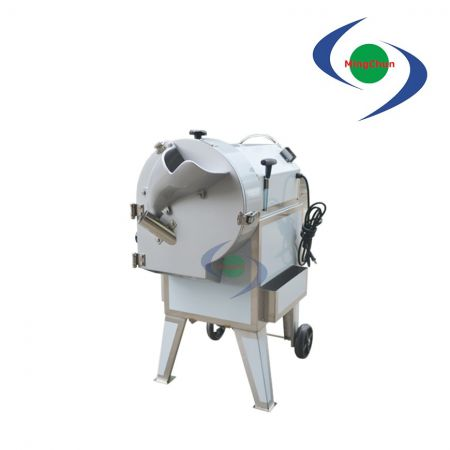 Rhizome Root Vegetable Fruit Cutter Machine DC 110V 220V 1HP - Rhizome cutter machine is able to cut wide range of sizes, change the tool size as needed.