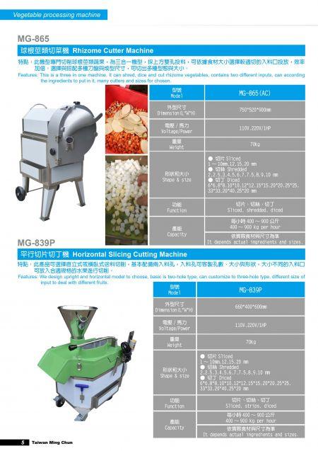 Rizoma Cutter Machine/Tagliatrice orizzontale.