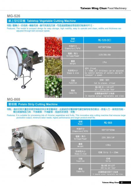 Mesin Pemotong Sayuran Meja/Mesin Pemotong Strip Kentang.
