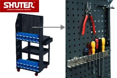 Tool cart with pegboard