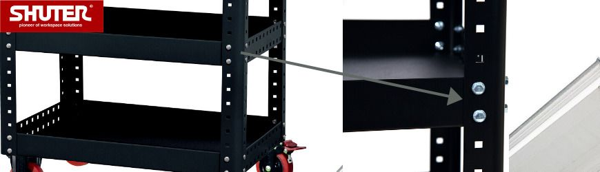 Height-adjustable shelves