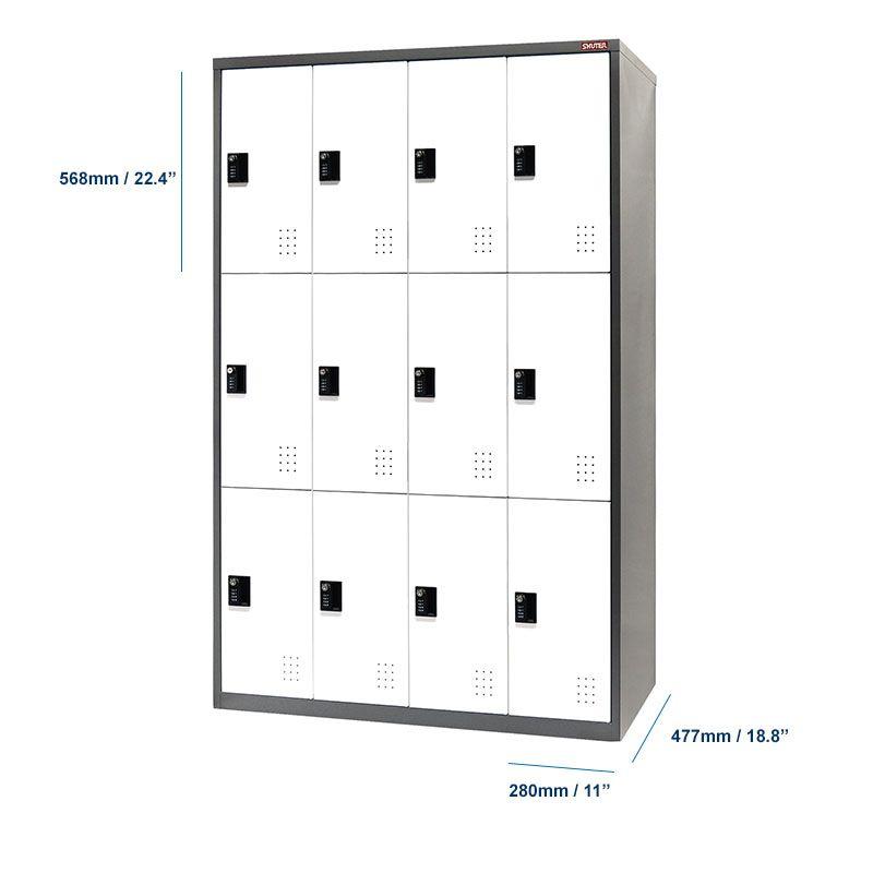 Dimension of metal locker