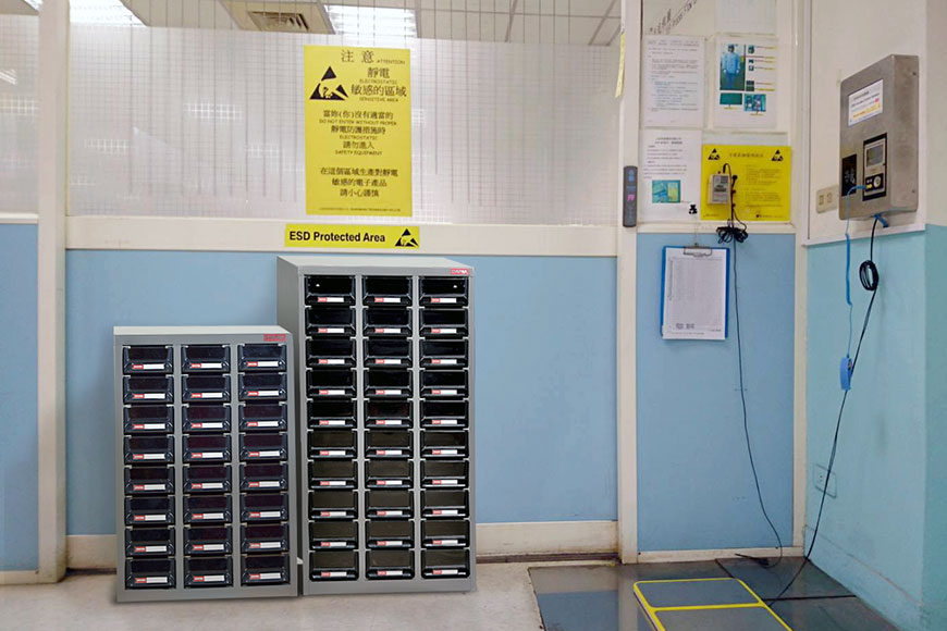 Perfect for creating highly organized and bespoke industrial ESD storage.