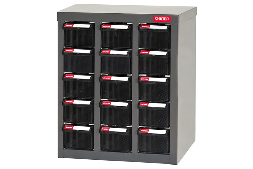 Drawer units feature no-drop antistatic PP drawers encased in a durable steel body.