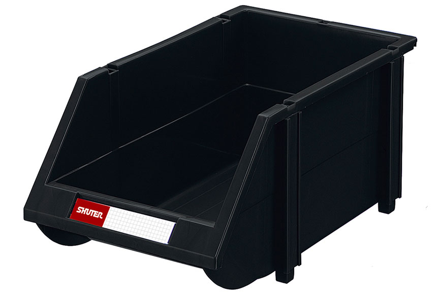 Industrial quality conductive ESD bins for secure small component storage.