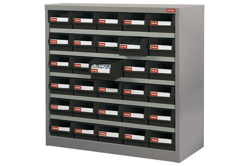 Grease-proof POM or durable ABS drawers for flexible industrial parts storage.