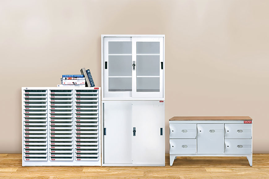 High quality steel construction means SHUTER office storage units will last a lifetime.