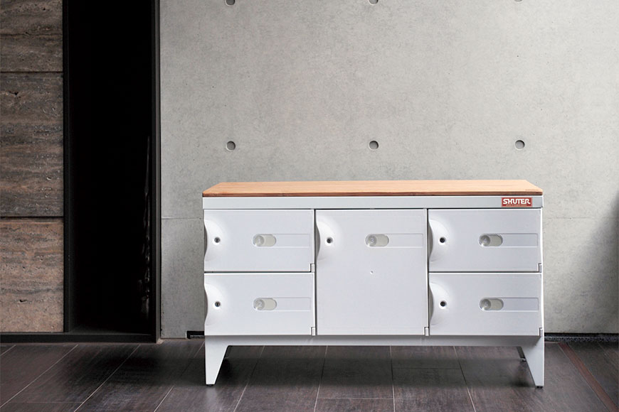 Stylish steel cabinet with ABS doors for use in home, office or industry.