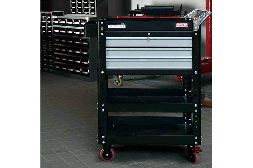 Configure SHUTER professional tool carts to suit a wide variety of user needs.