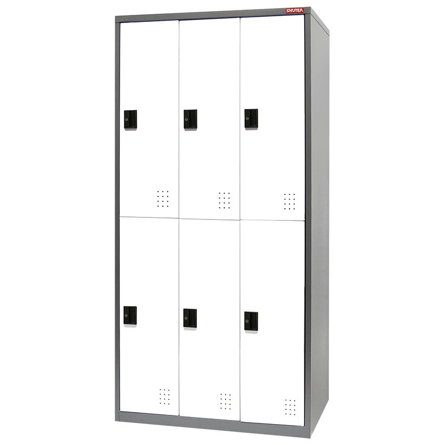 Traditional metal locker with great new features like ventilation and customizable door colors.