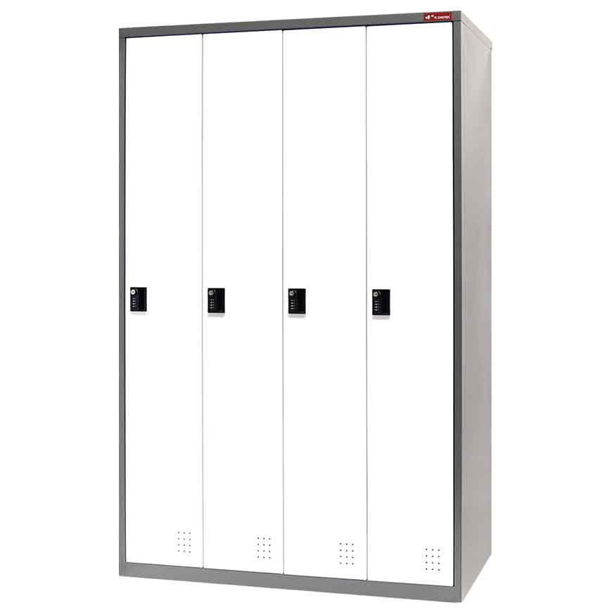 Store files, office supplies, and more in this steel tower locker.