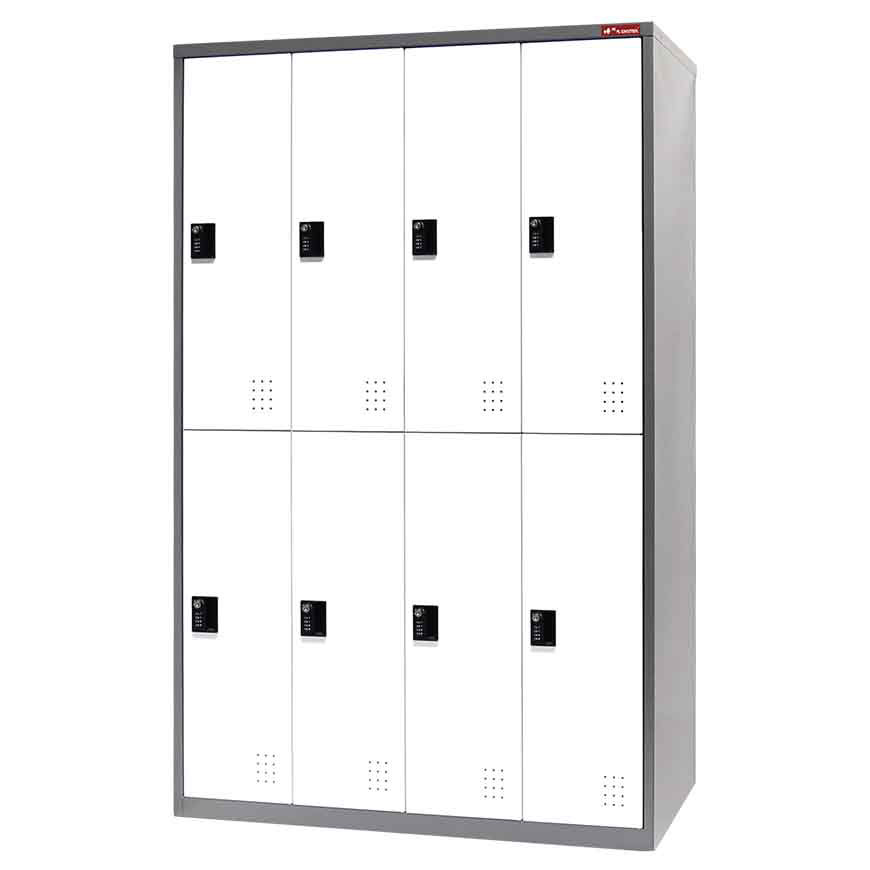 Purchase these steel tower lockers for use as everything from a wardrobe to a tool cabinet.