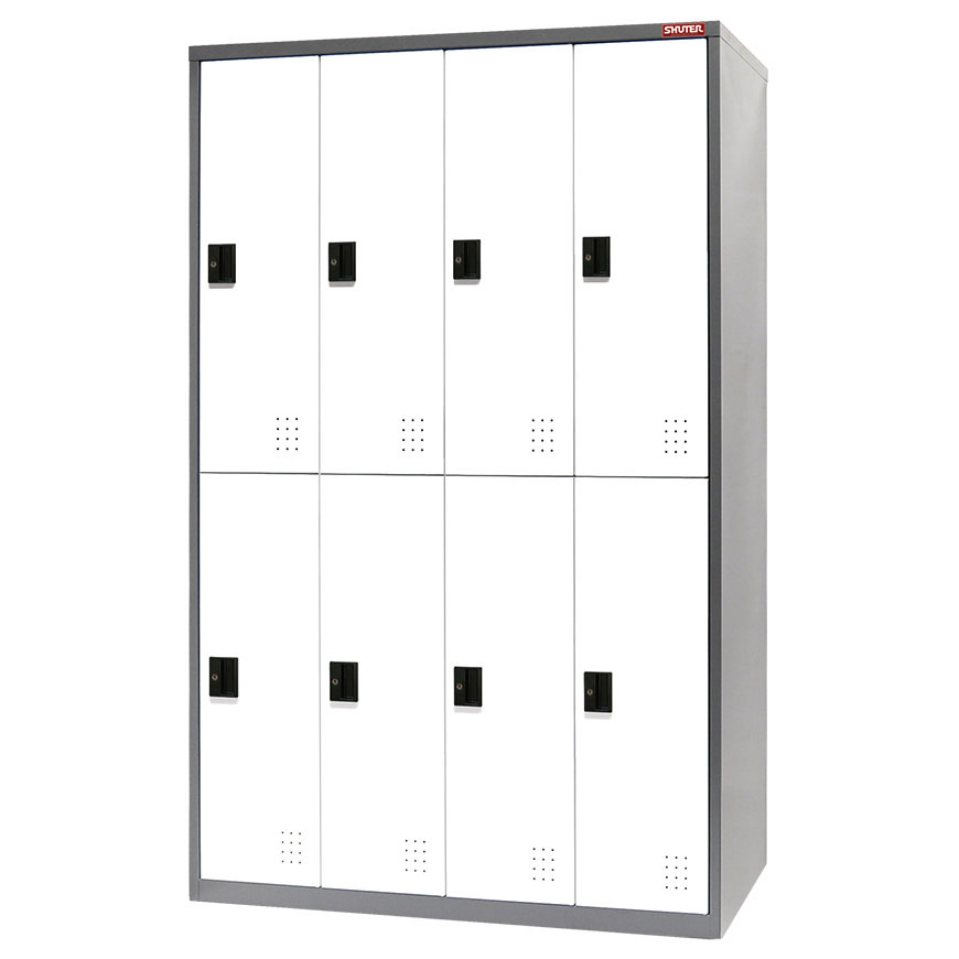 Steel tower lockers from SHUTER for home, office or industrial use as a wardrobe or large-scale storage.