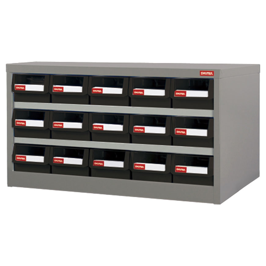 Save time and make your workspace more efficient with this parts cabinet with drawers.
