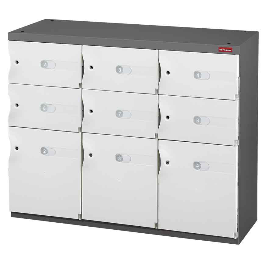 Help your staff or customers to securely store their items by installing these office organizers.