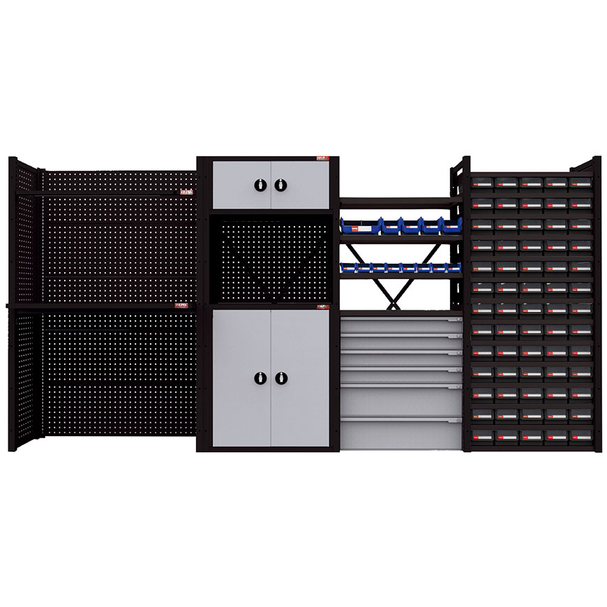 Crafted to fit individual space requirements for garage, workshop, production line, or warehouse.
