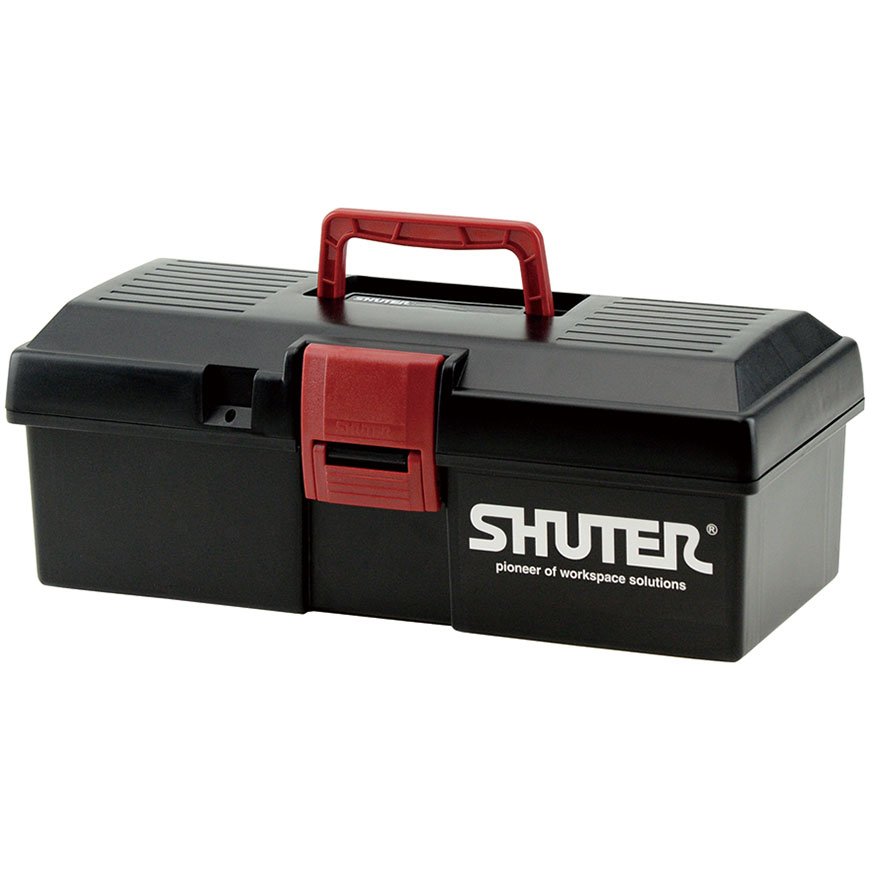 Professional tool boxes featuring lift-out trays, clip locks, sit-flat handles.