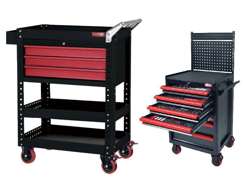 Configure SHUTER professional tool cart to suit a wide variety of user needs.