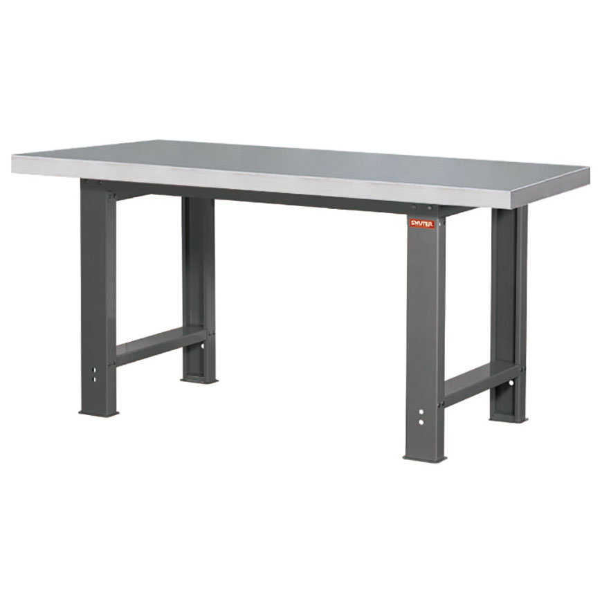 SHUTER workbenches are sturdy and come with a wide selection of different worktop materials to choose from.