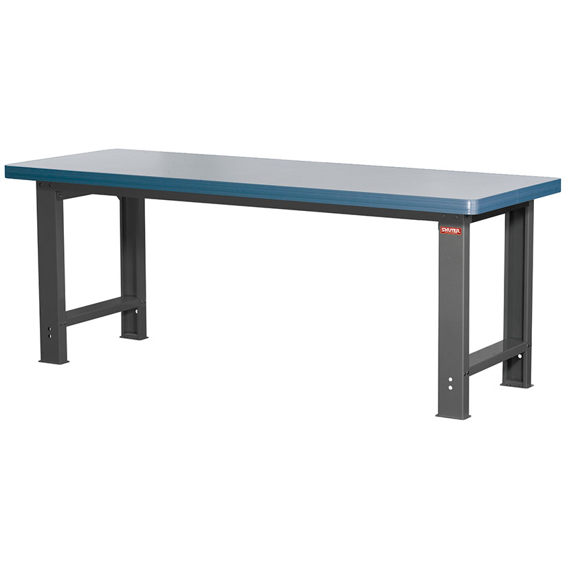 SHUTER combines a sturdy steel frame with a great selection of worktop materials to bring you the ultimate workbench.