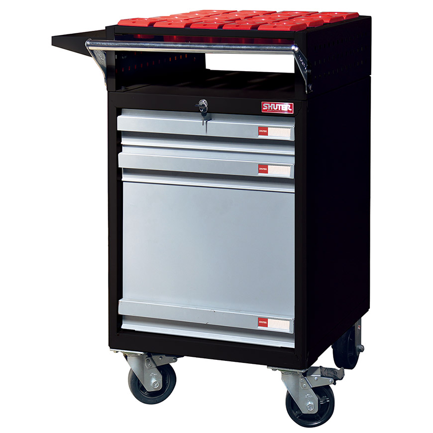 SHUTER brings you the most secure mobile CNC tool and parts trolley on the market.