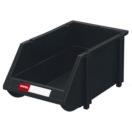 Industrial ESD Antistatic Hanging Bin for Electronic Devices and Components Storage - 2.5L