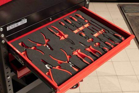 Application of tool cart drawer