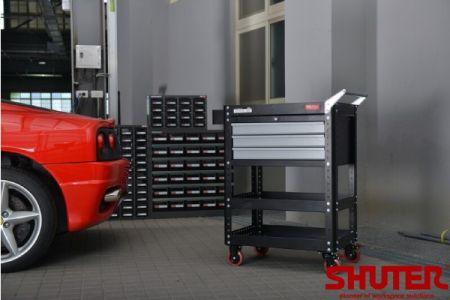 Tool cart in garage