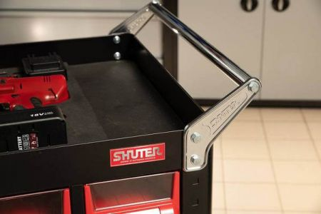 Integrated steel handle of Tool cart