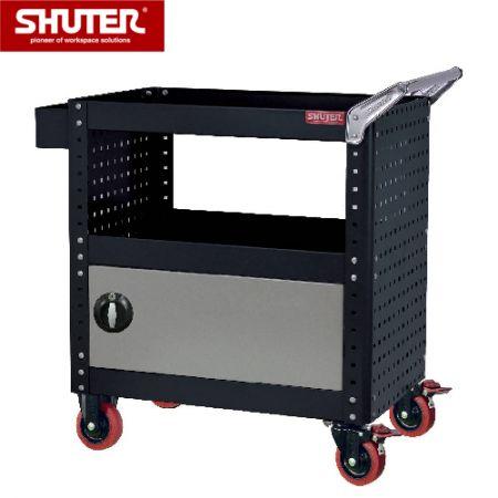 Tool Cart with 1 Locker & Siding Pegboard, Height 880 mm - Tool Cart with 1 Locker & Siding Pegboard, Height 880 mm