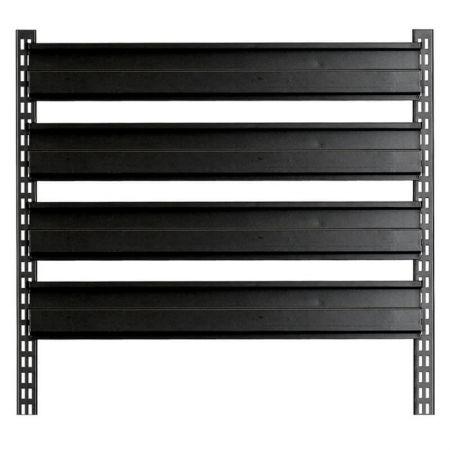 Steel rack for hanging bins - Steel tool rack for hanging bins and tip out bins