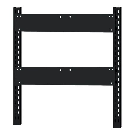 Steel rack with 2 backboards for hanging tip out bins - Steel rack with 2 backboards for hanging tip out bins